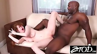 Teen Babysitter loves her BBC boyfriend fucking her tight little body