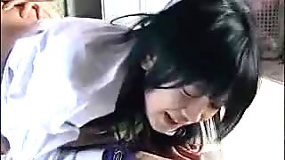 Scared Schoolgirl In Uniform With Handcuff Getting Her Pussy Fucked With Double Dildo Girl Sits To Her Face On The Mattress