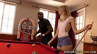 Chloe Couture takes BBC on a pool table