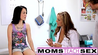 Doctor orders hot threesome with step sister and brother