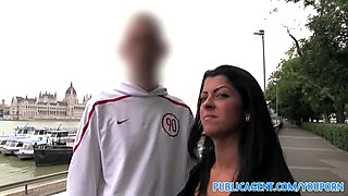 PublicAgent Beautiful brunette fucked in hotel as her bf waits outside