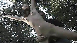 Painfull atittude and ass fucking trance