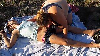 Amanda Outside Blowie & Sex With Sadee Deep Pussy Fucking & Creampie