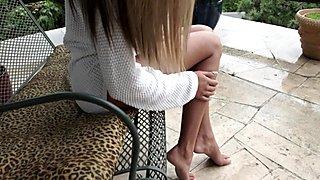 Cuties alluring feet cum