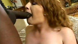 MILF Blows Interracial Cock