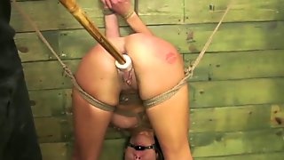 FetishNetwork Isa Mendez bdsm slave girl tied hard