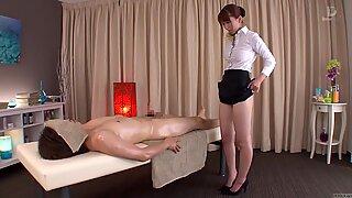 Subtitled traditional Japanese bottomless massage Yui Hatano