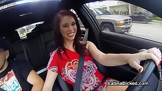 GFs tits out giving handjob while driving