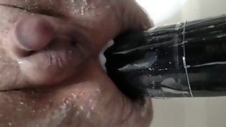 Titan dildo close up ass fuck