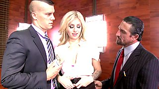 First double penetration for Madelyn Monroe