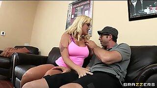 Sexy blonde MILF Alana Evans gets revenge on her cheating husband