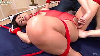 Wondrous and weird slut AIKA HOSHINO gets totally absorbed with sucking a dick