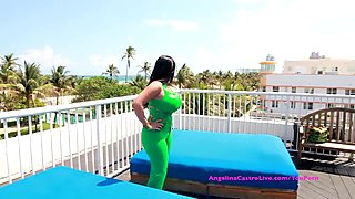 Big Titted Angelina Castro Fucking on PUBLIC Rooftop?!