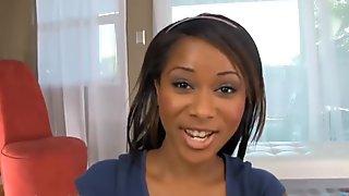 Teen Ebony Babe POV Facial