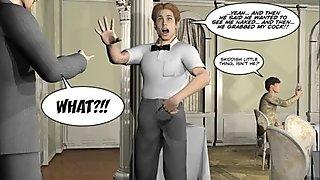 PLEASING GAY CUSTOMER 3D Cartoon Comic Anime Hentai Story STRAIGHT BOY SEX