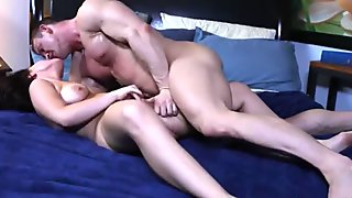 Belle Noire bouncing on cock on the bed