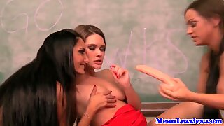 Young lesbian Abigail Mac schooled by master Ava