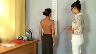Humiliating nude job interview for Sasha