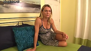 Brenda James - Jacking off for my step mom, the porn star