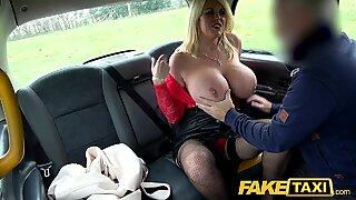 Fake Taxi Massive boobs titwank and hard fuck