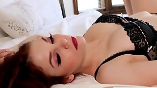 Lesbian Bree Daniels gets ass filled by toys