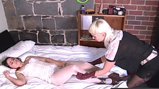 Girls Out West - Kinky hairy lesbians enjoy oral n toys