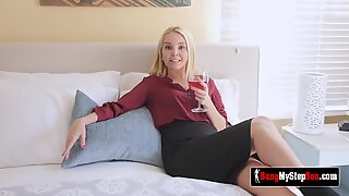 AALIYAH LOVE teases stepson to ride his HUGE COCK