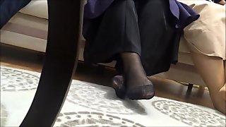 arab turkish hijab nylon feet