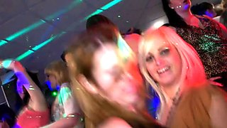 Euro amateur facialized at blowjob party
