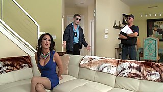 Criminals wife Jessica Jaymes fucked by a hot cop