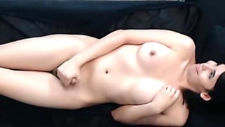 Sexy Shemale Strokes Her Cock