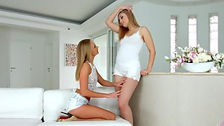 Enough talking lesbian scene with Ivana Sugar and Alana Moon by Sapphix