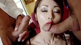 HARMONY VISION Asian babe Marica Hase in Anal DP