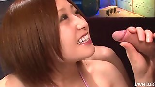 Cock sucking delight with sensual Japanese beauty Ruri Haruka