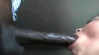 Interracial blowjob! Asian black