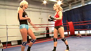 Laura Crystal and Michelle Moist fighting hard