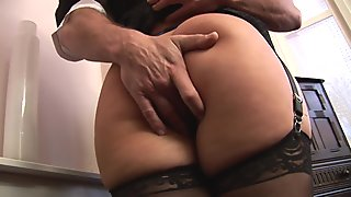 Cute MILF loves sucking cock in her office