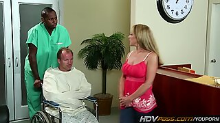 Sexy blonde MILF Shayla Laveaux Gets fucked by huge black cock