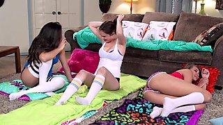 Lesbian threesome Cassidy Banks Elektra Rose Natalie Monroe