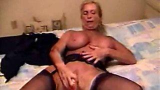 Granny Masturbates Home Alone
