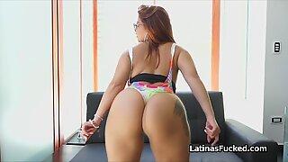 Fat ass Latina bikini teen oiled and fucked hard