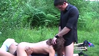 Hardcore Anal Gangbang In The Wood After Wedding