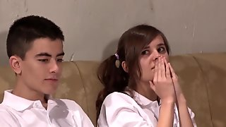 Teen Sex Session including Ainara n Jordi