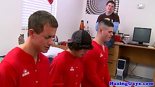 Amateur twinks fucking in dorm orgy
