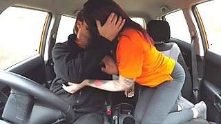 Fake Driving School Teen Creampied by UK Instructor