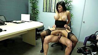 Busty lady fucked in office