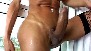 Big Tittied TS Babe Sabrina Suzuki Masturbates