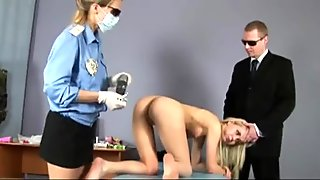 Embarassing gyno exam for sexy blonde