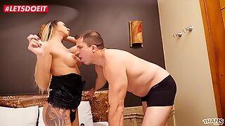LETSDOEIT - Mature Guy Seduced and Fucked Hard By Kinky Tranny Queen