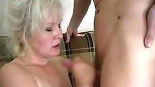 Russian sexy grandma Lena and Alex